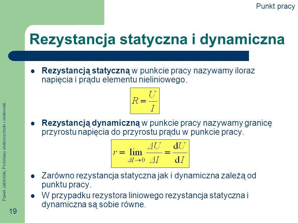 Rezystancja statyczna i dynamiczna