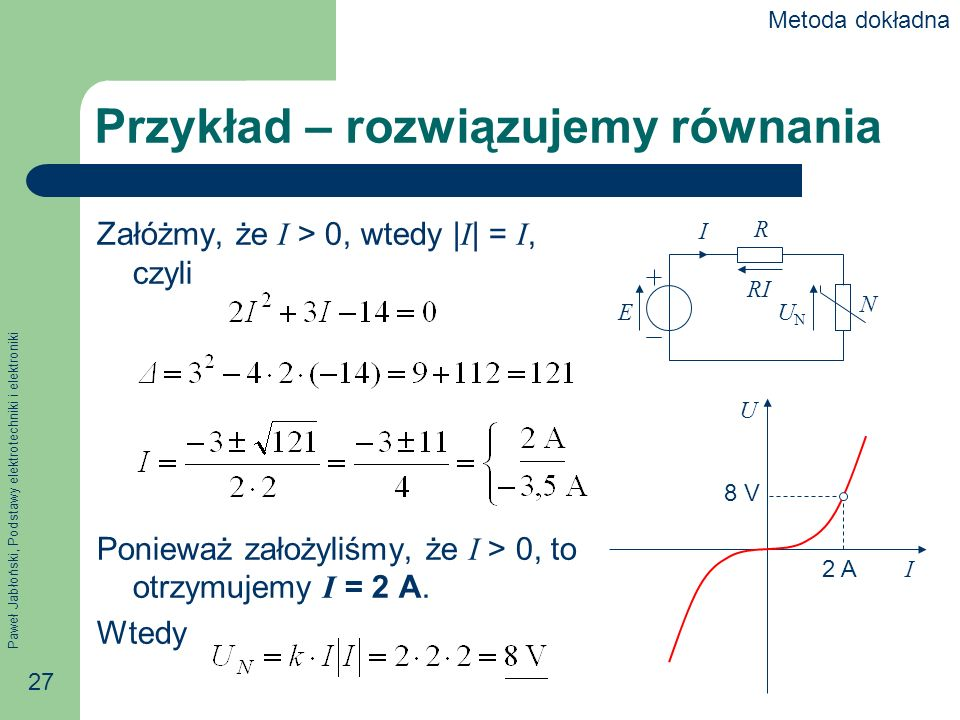 Przykład – rozwiązujemy równania