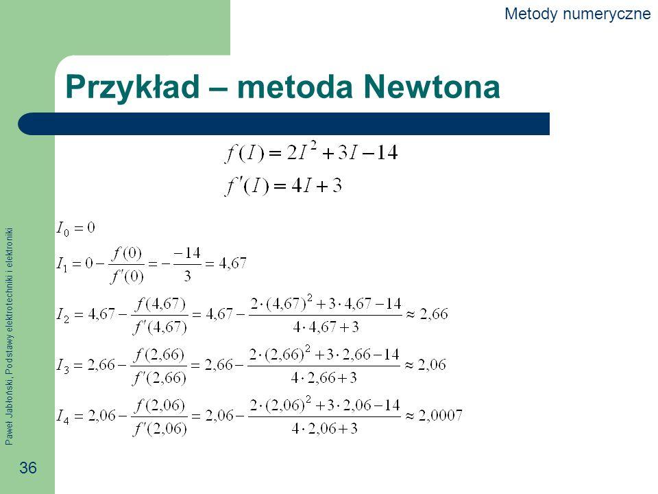 Przykład – metoda Newtona