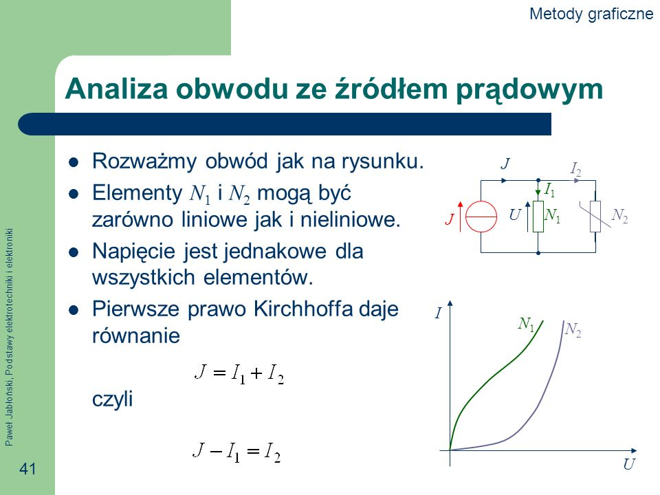 Analiza obwodu ze źródłem prądowym