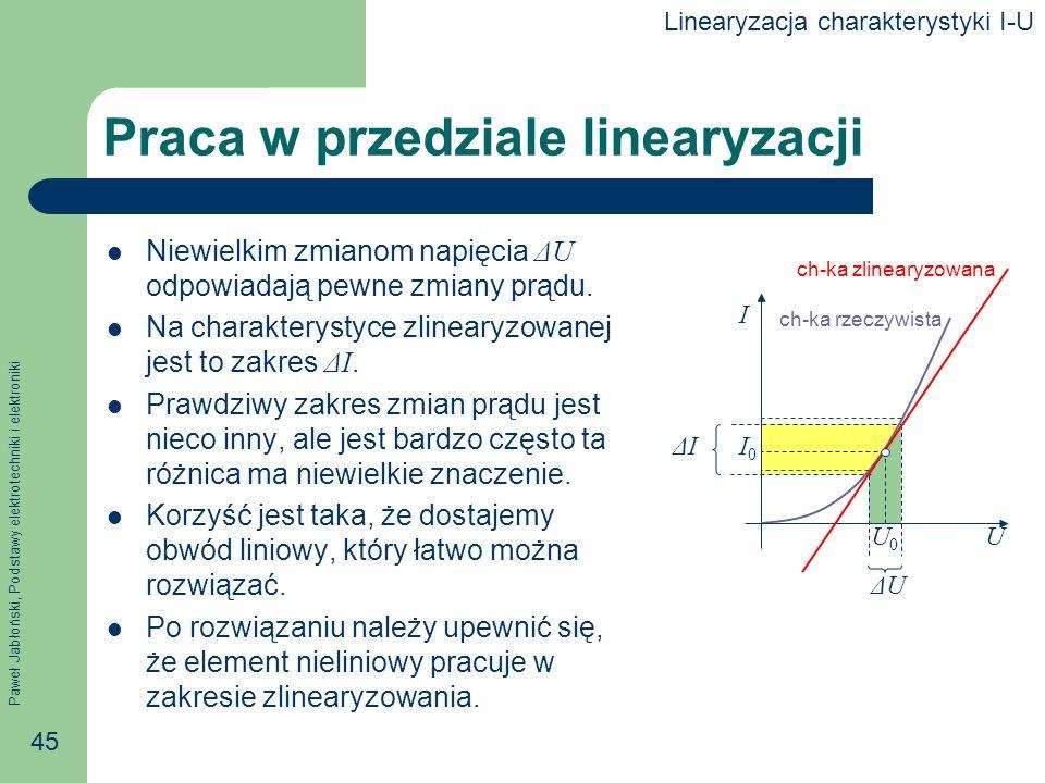 Praca w przedziale linearyzacji