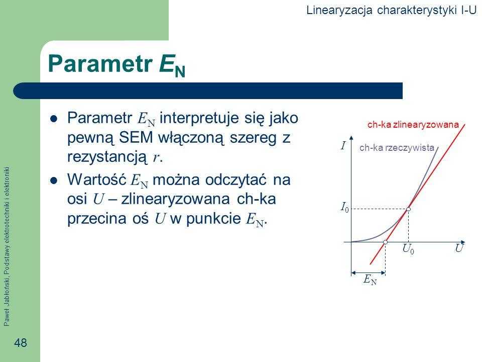 Linearyzacja charakterystyki I-U