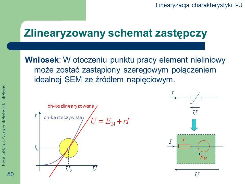 Zlinearyzowany schemat zastępczy