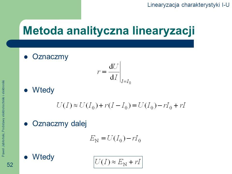Metoda analityczna linearyzacji