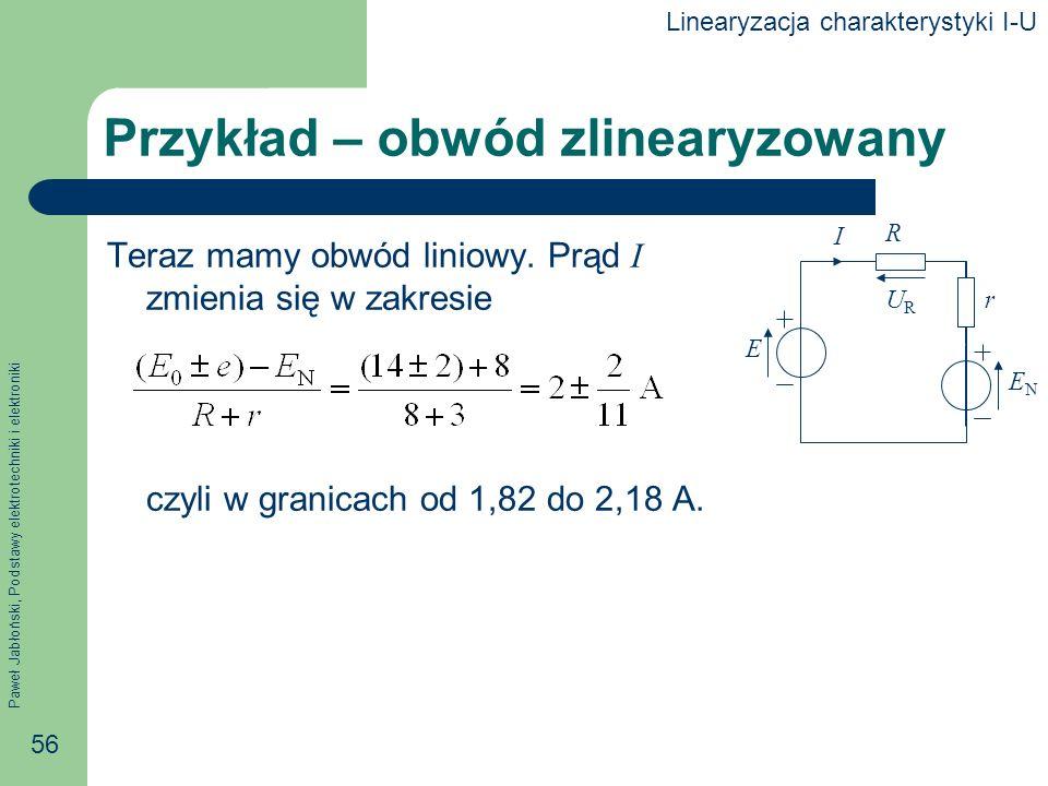 Przykład – obwód zlinearyzowany