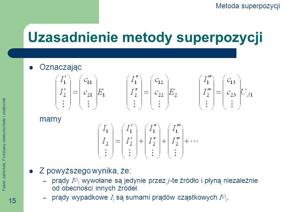 Uzasadnienie metody superpozycji