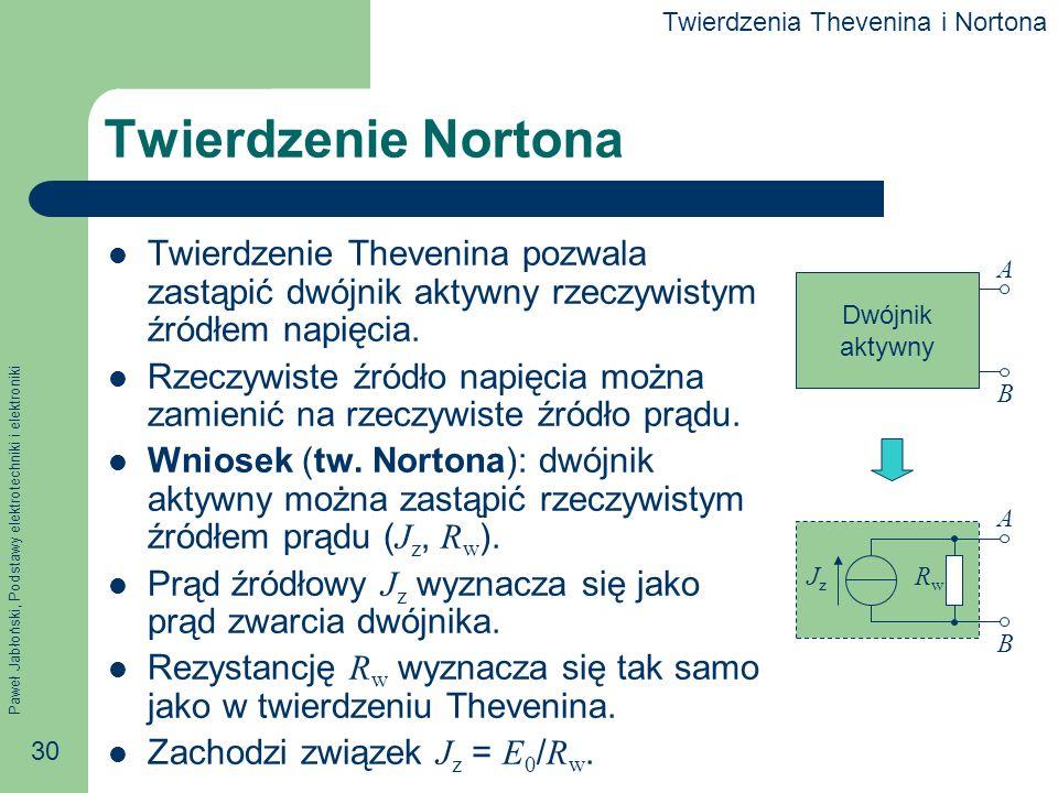 Twierdzenia Thevenina i Nortona