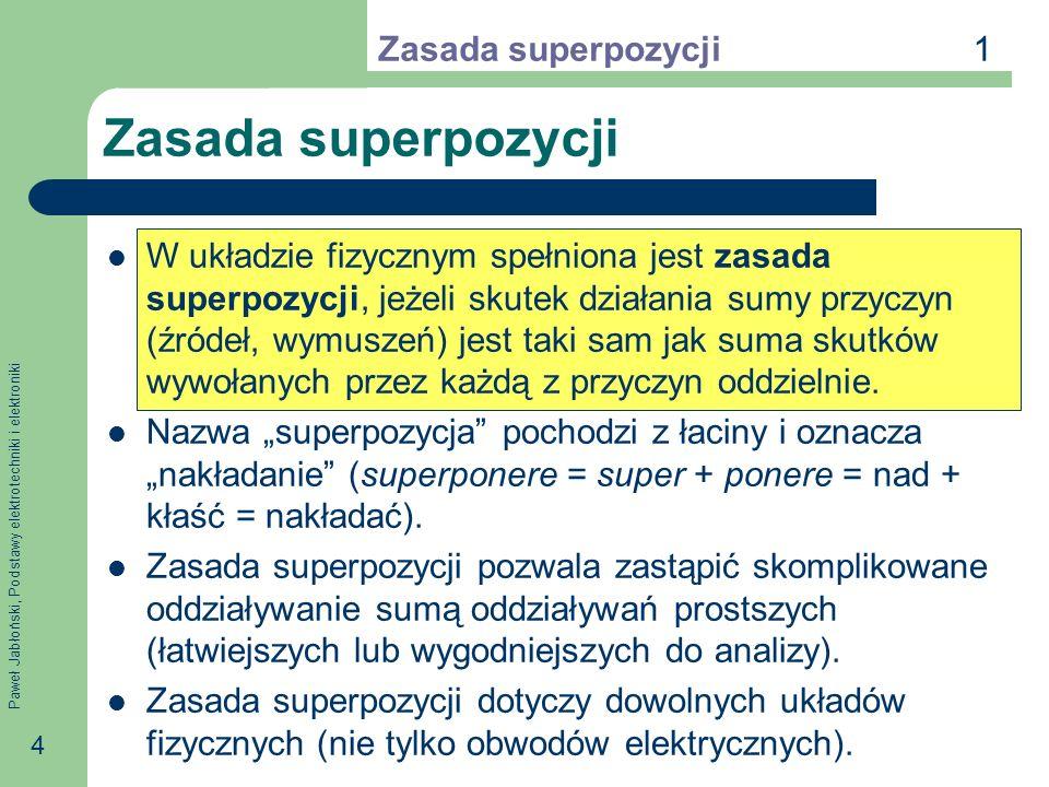 Zasada superpozycji 1 Zasada superpozycji