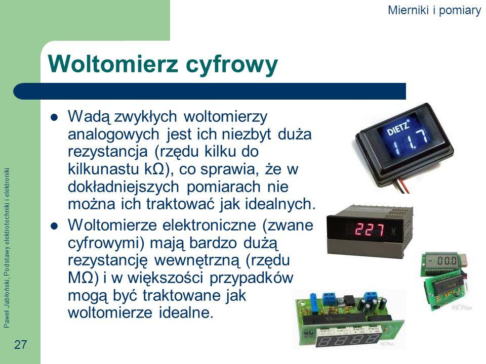Mierniki i pomiary Woltomierz cyfrowy.