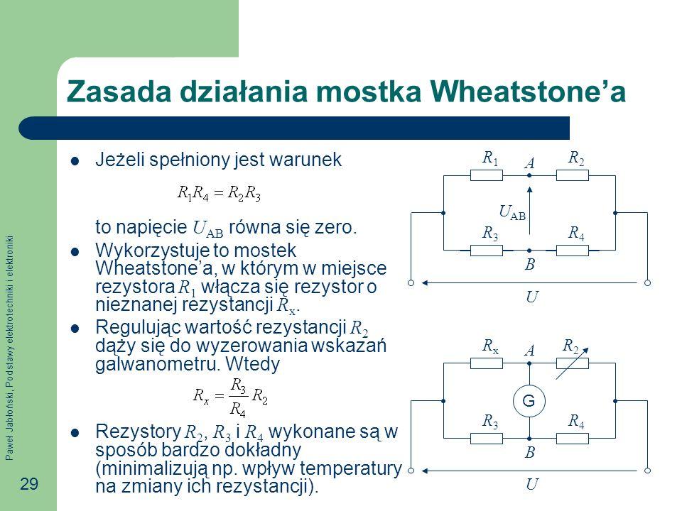 Zasada działania mostka Wheatstone'a