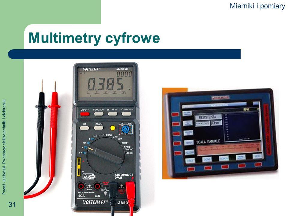Mierniki i pomiary Multimetry cyfrowe