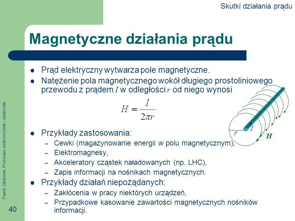 Magnetyczne działania prądu