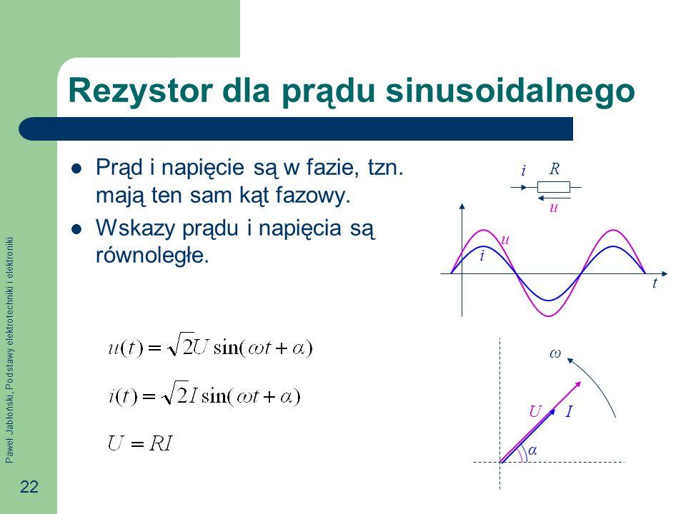 Rezystor dla prądu sinusoidalnego