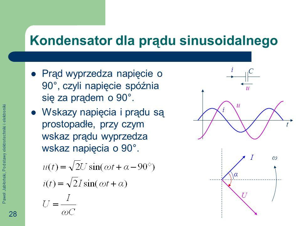 Kondensator dla prądu sinusoidalnego