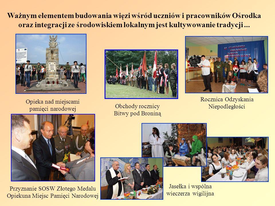 Ważnym elementem budowania więzi wśród uczniów i pracowników Ośrodka oraz integracji ze środowiskiem lokalnym jest kultywowanie tradycji ...