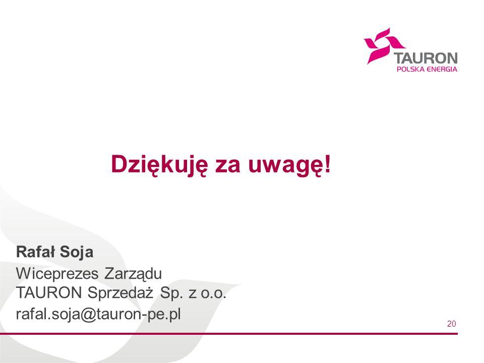 Dziękuję za uwagę! Rafał Soja
