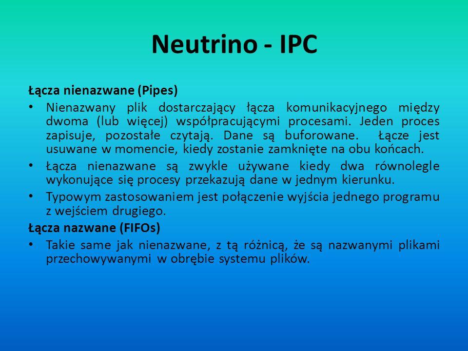 Neutrino - IPC Łącza nienazwane (Pipes)