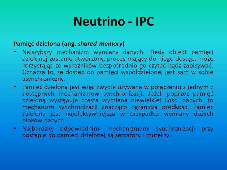 Neutrino - IPC Pamięć dzielona (ang. shared memory)