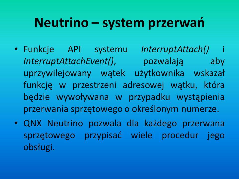 Neutrino – system przerwań