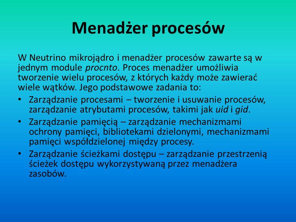 Menadżer procesów