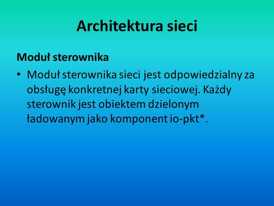 Architektura sieci Moduł sterownika
