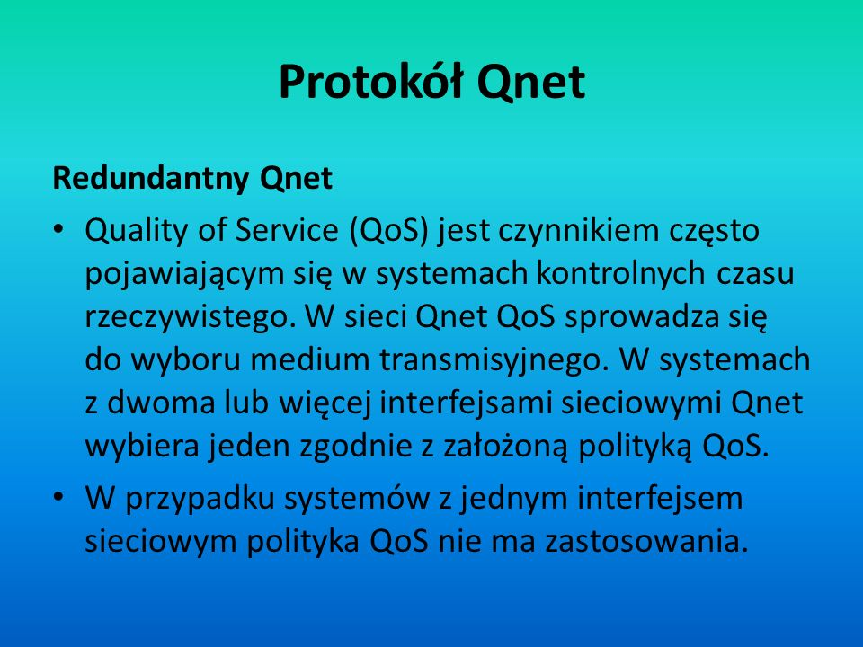 Protokół Qnet Redundantny Qnet