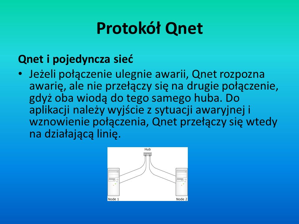 Protokół Qnet Qnet i pojedyncza sieć