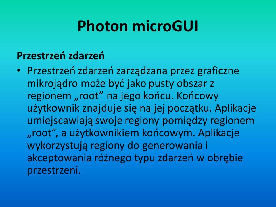 Photon microGUI Przestrzeń zdarzeń