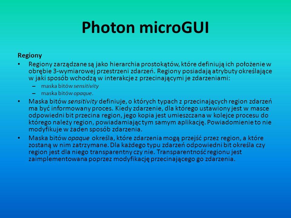 Photon microGUI Regiony