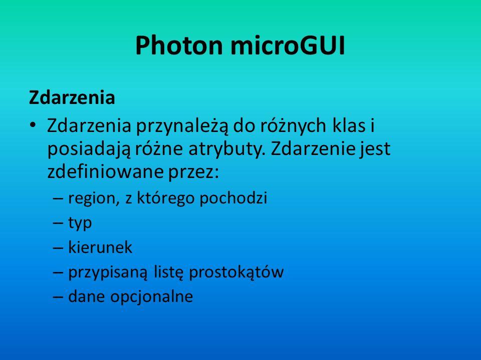 Photon microGUI Zdarzenia