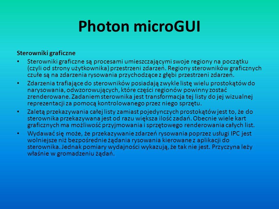 Photon microGUI Sterowniki graficzne