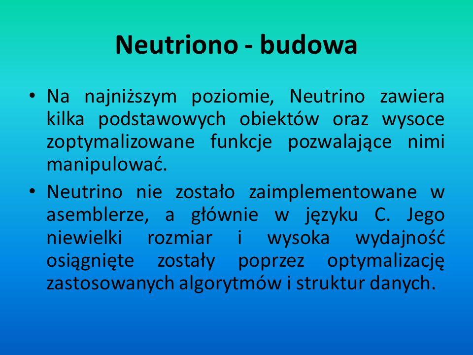 Neutriono - budowa