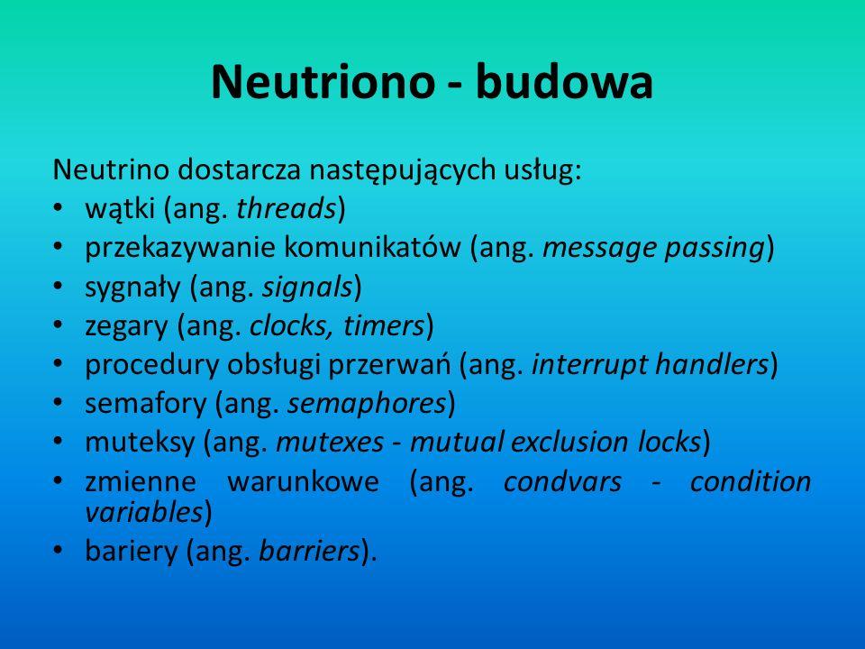 Neutriono - budowa Neutrino dostarcza następujących usług: