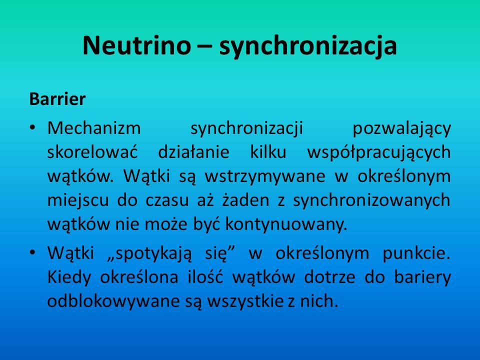 Neutrino – synchronizacja