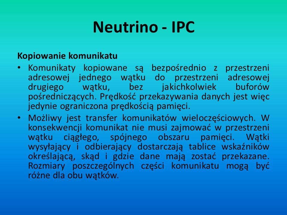 Neutrino - IPC Kopiowanie komunikatu