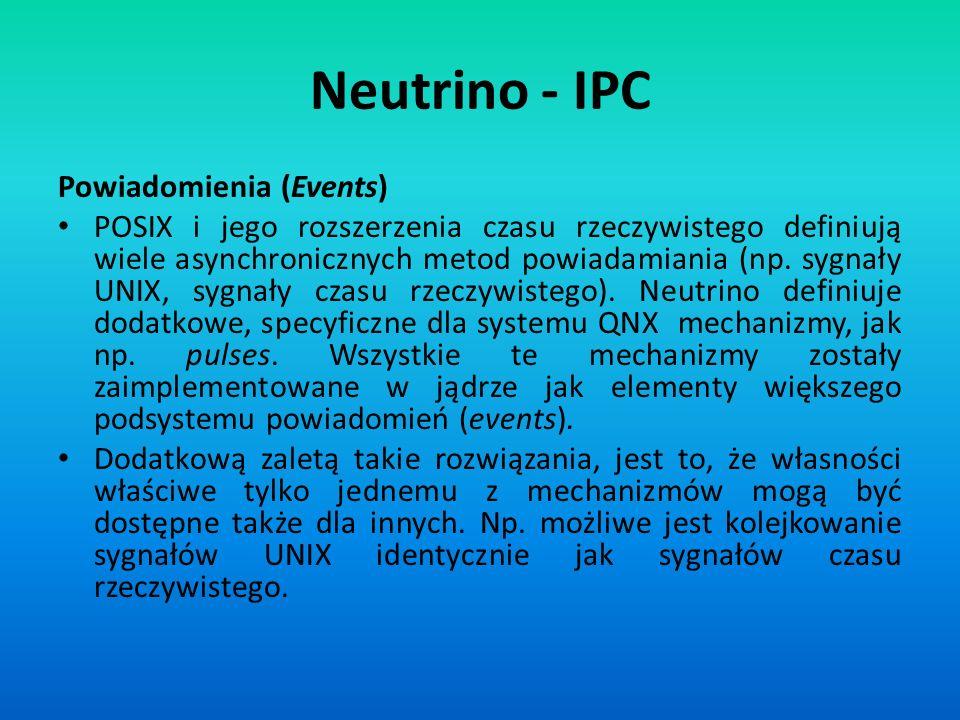 Neutrino - IPC Powiadomienia (Events)