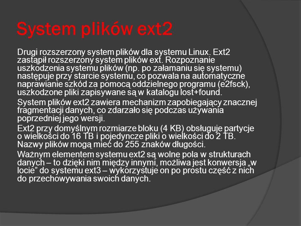 System plików ext2