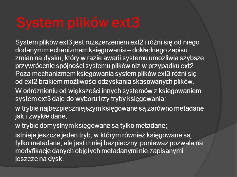 System plików ext3