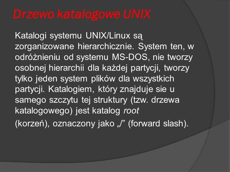 Drzewo katalogowe UNIX