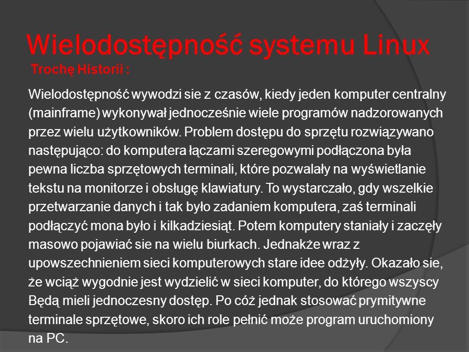 Wielodostępność systemu Linux