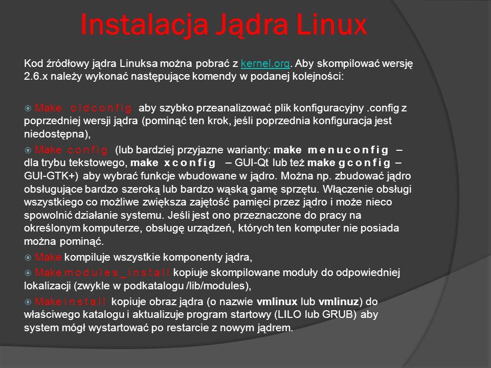 Instalacja Jądra Linux