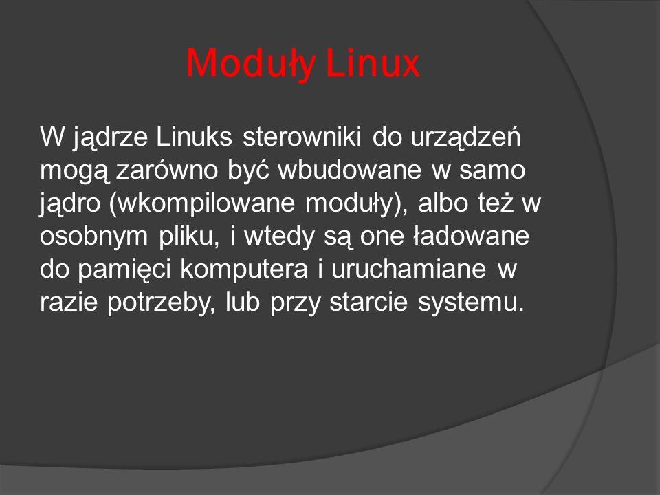 Moduły Linux