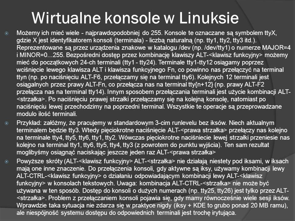 Wirtualne konsole w Linuksie