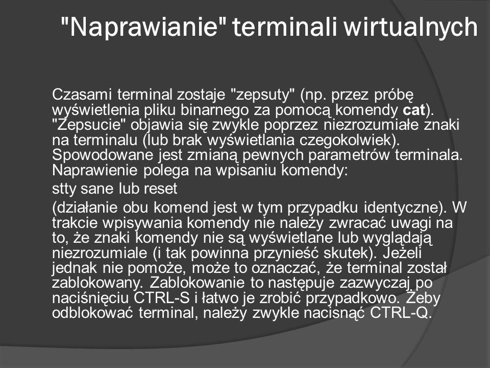 Naprawianie terminali wirtualnych
