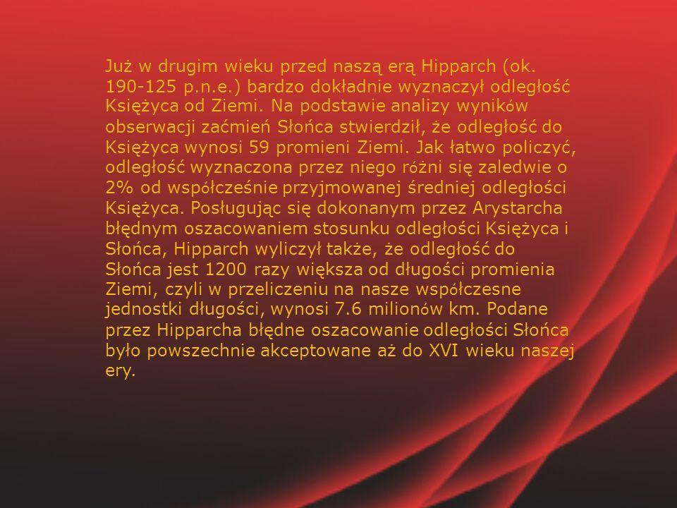 Już w drugim wieku przed naszą erą Hipparch (ok. 190-125 p. n. e