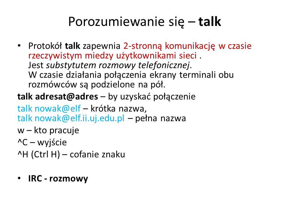 Porozumiewanie się – talk