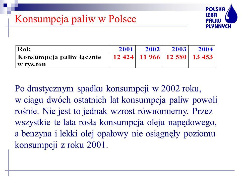 Konsumpcja paliw w Polsce