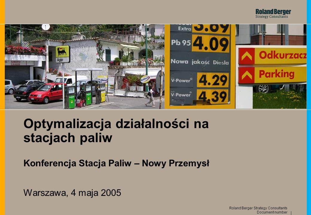 Optymalizacja działalności na stacjach paliw Konferencja Stacja Paliw – Nowy Przemysł Warszawa, 4 maja 2005