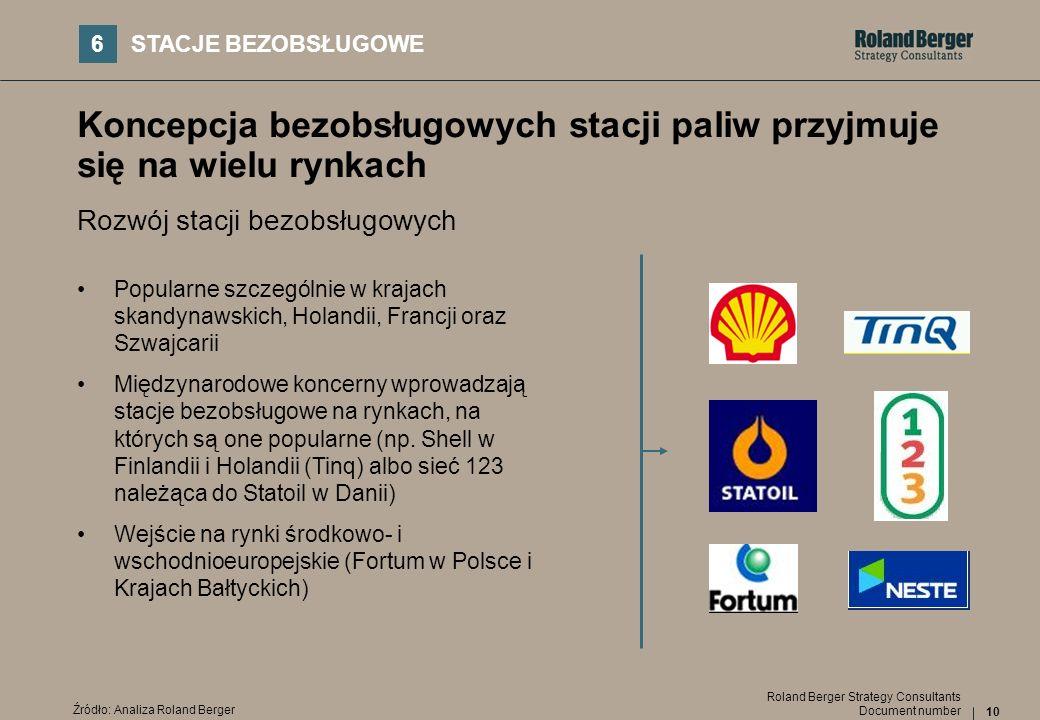 Koncepcja bezobsługowych stacji paliw przyjmuje się na wielu rynkach