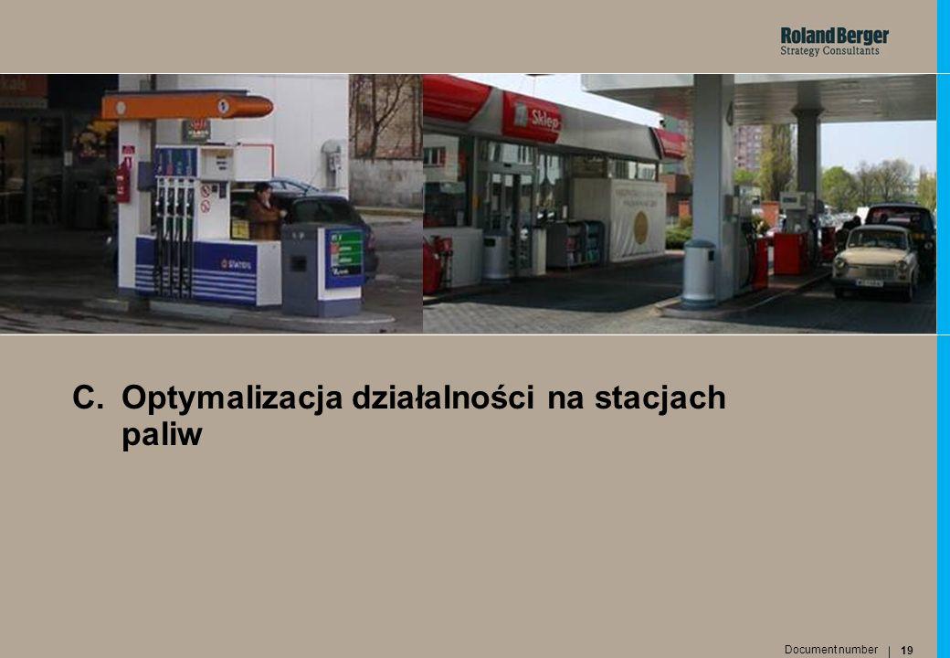 C. Optymalizacja działalności na stacjach paliw